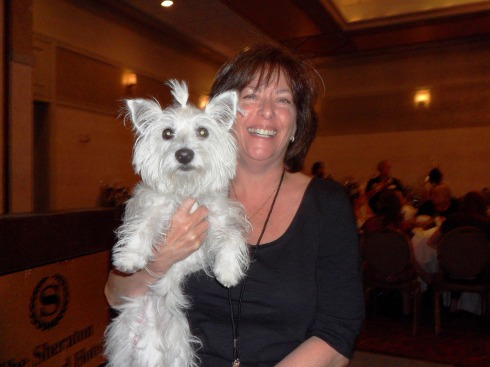 With Heidi Walker, President of Yorkie 911 Rescue
