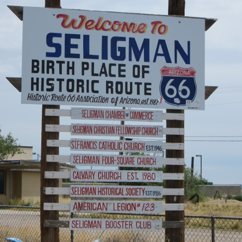Seligman is an interesting place to stop for lunch